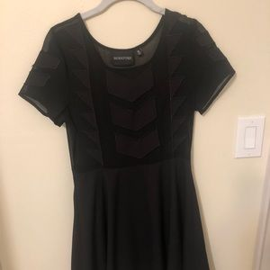 Black MinkPink dress - sheer top
